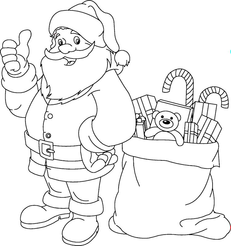 Kleurplaten Kerstman Met Kerstboom.Kerstfun Voor Kinderen Kerst Kleurplaten